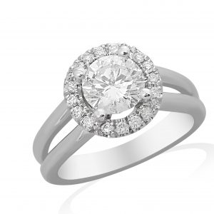 1.00 ctw Round cut Diamond Engagement Ring