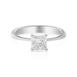 3/4 ct Princess cut Diamond Solitaire Engagement Ring