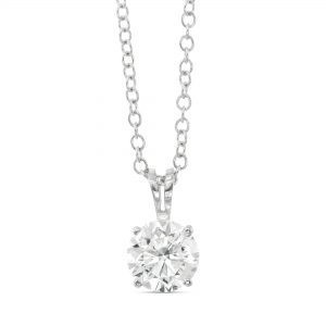 3/4 ct Round cut Diamond Solitaire Pendant