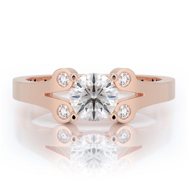 1 ctw Round Diamond Engagement Ring 14k Gold