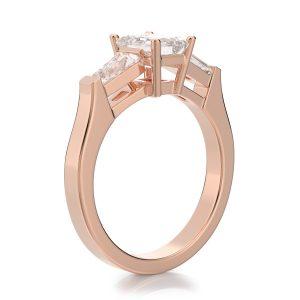 1.30 ctw Emerald cut Diamond Engagement Ring 14k Gold