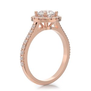 1.50 ctw Round cut Diamond Engagement Ring 14k Gold