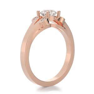 1 ctw Round Diamond Engagement Ring 14k Gold