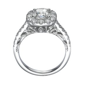 2.00 ctw Cushion cut Antique Diamond Engagement Ring 14k Gold