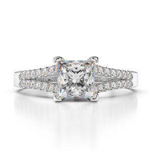 1.50 ctw Princess cut Diamond Engagement Ring 14k Gold