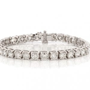 12 ctw Men's Diamond Tennis Bracelet 14k White Gold