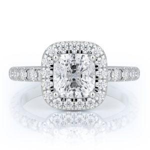 2.25 ctw Cushion cut Diamond Engagement Ring 14k Gold