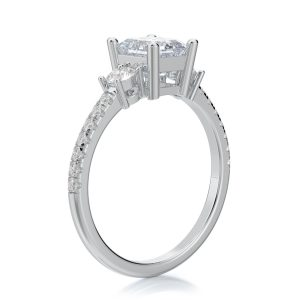 1.50 ctw Emerald cut Diamond Engagement Ring 14k Gold