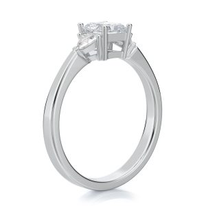1.50 ctw Princess cut Diamond Engagement Ring 14k Gold