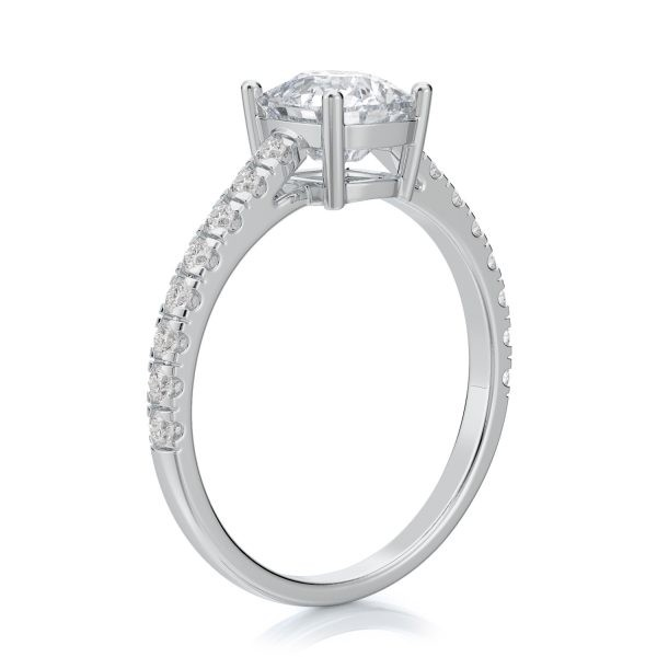 1.50 ctw Cushion cut Diamond Engagement Ring 14k Gold
