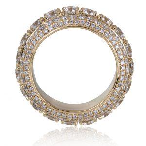 9 ctw Men's Diamond Eternity Ring 14k Yellow Gold