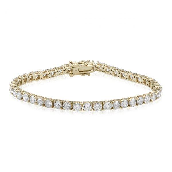 10 carat Women's Diamond Tennis Bracelet 14k Yellow Gold