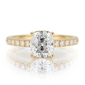 1.50 ctw Cushion cut Diamond Engagement Ring 14k Gold
