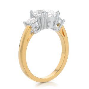 2.50 ctw Cushion cut Diamond Engagement Ring 14k Gold