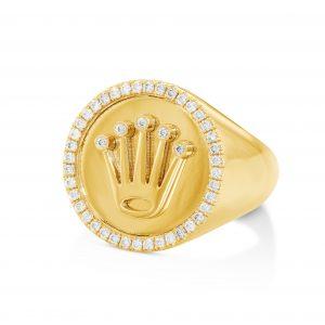 Rolex Logo Men's Diamond Ring