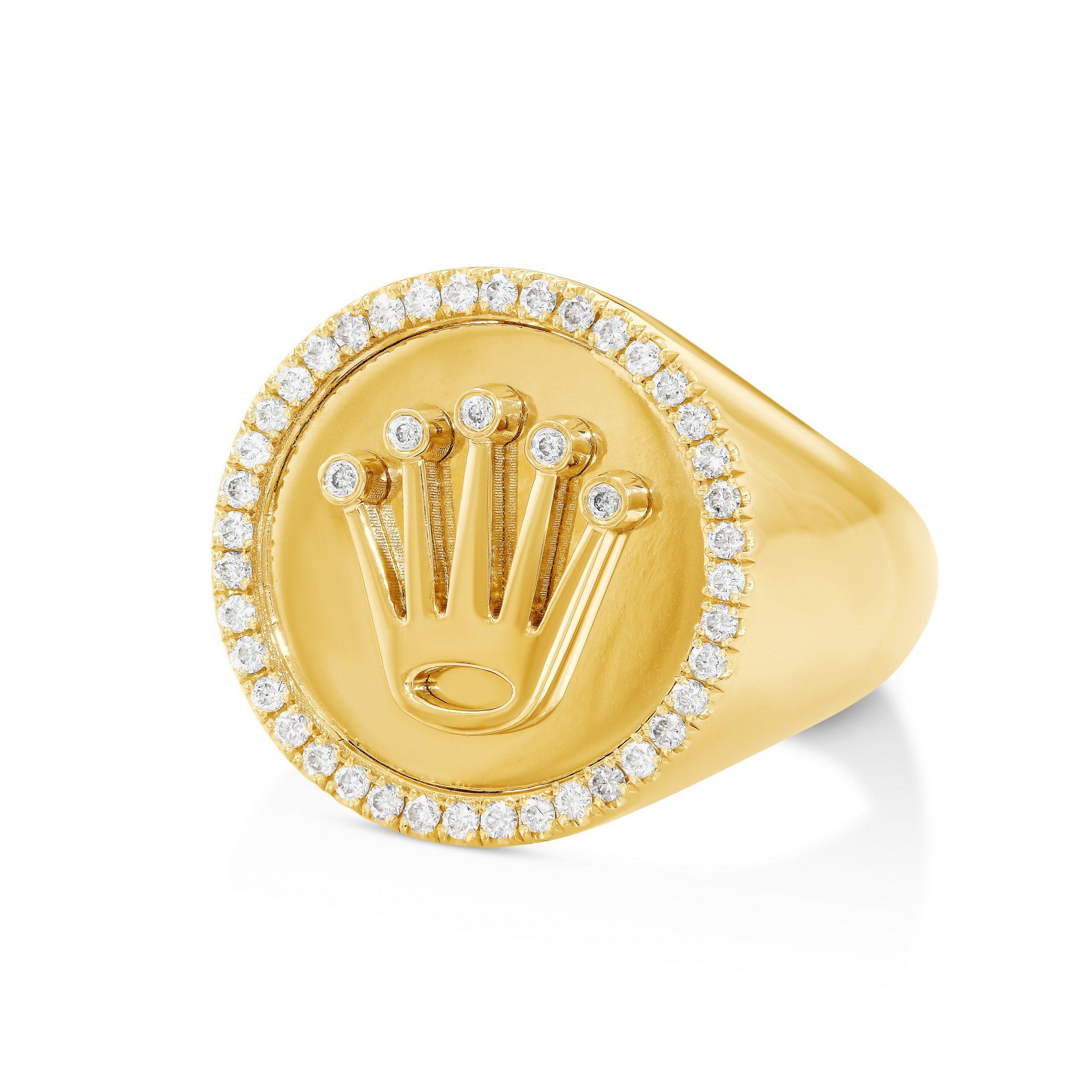Rolex Logo Men\u0027s Diamond Ring