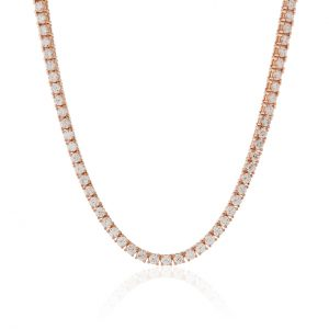 14 ctw Women's Diamond Tennis Chain 14k Rose Gold
