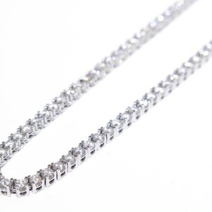 9.00 ct Round Diamond Tennis Chain 10k White Gold