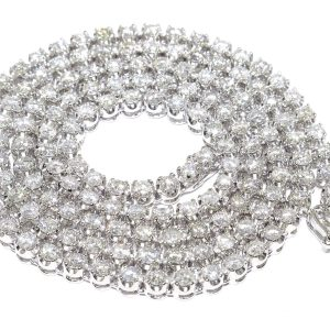 30 ctw Diamond Tennis Chain 14k White Gold